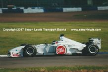 BAR HONDA 002. Darren Manning, at speed during Silverstone Test 2000. Photo (A)